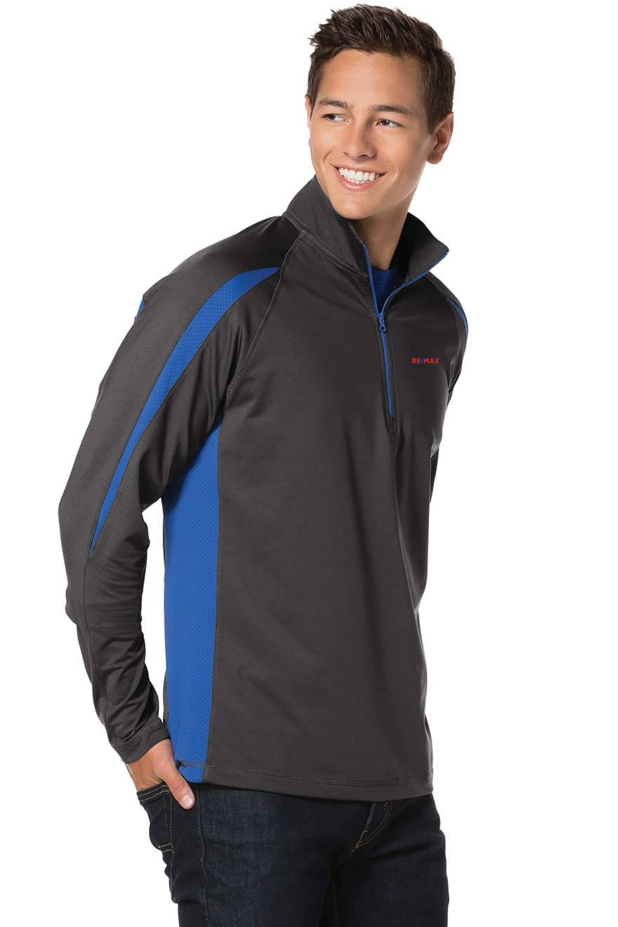 Men's Sport-Wick® Stretch 1/2-Zip Colorblock Pullover