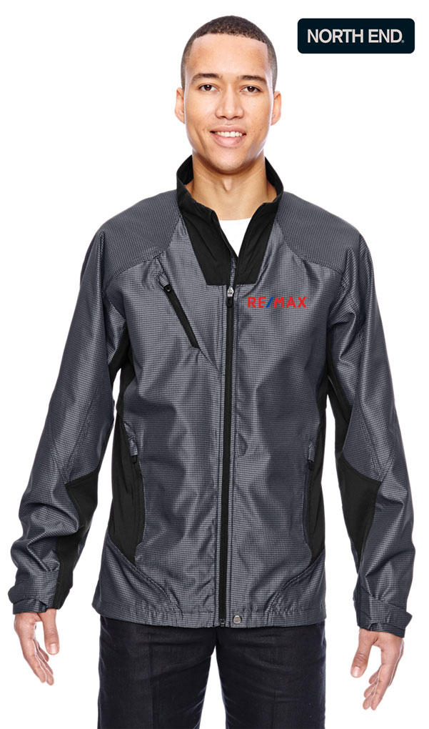 North End Sport® Red Men's Interactive Aero Two-Tone Lightweight Jacket