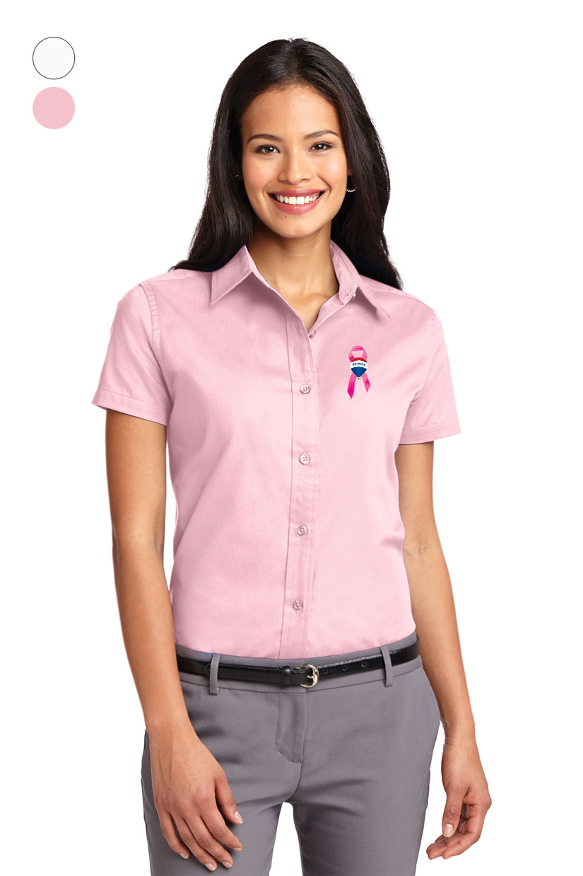 Ladies Short Sleeve Easy Care Shirt - Awareness