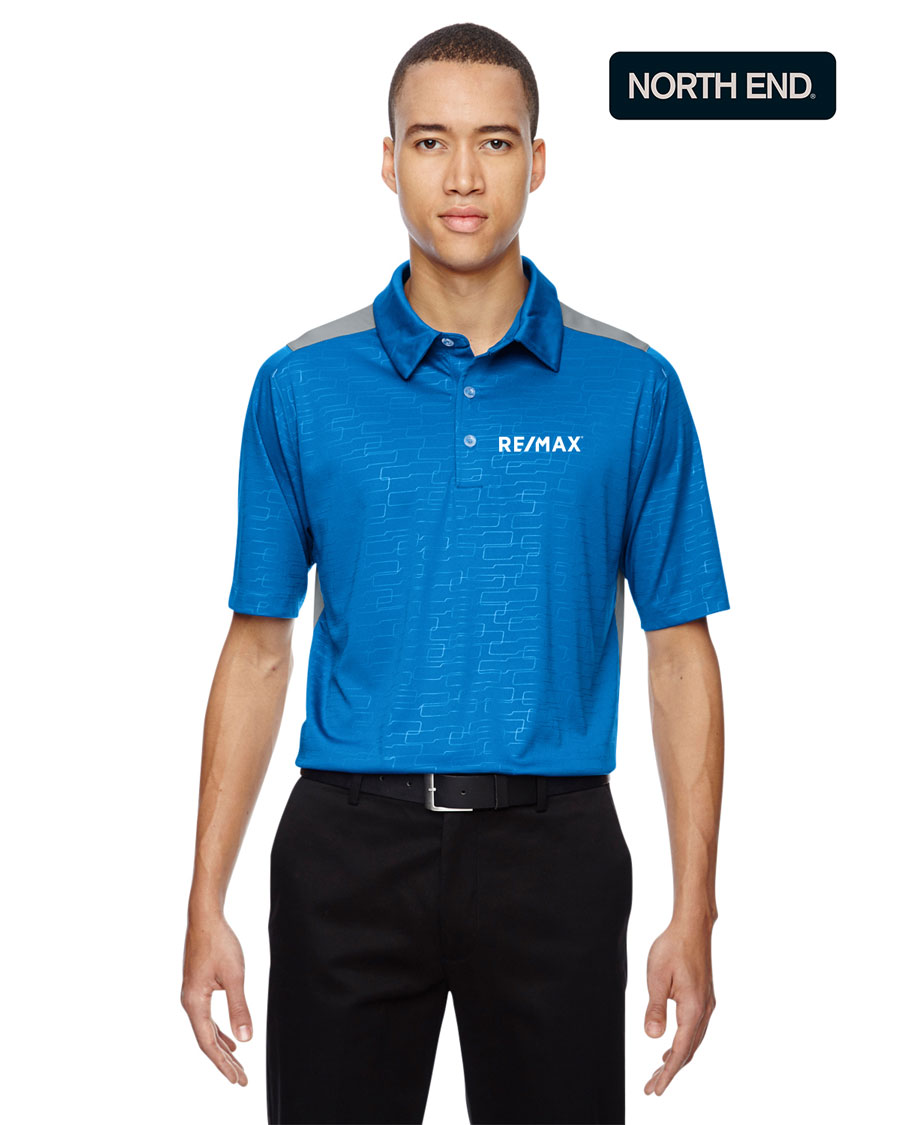 North End Men's Reflex UTK Cool Logik™ Performance Embossed Print Polo