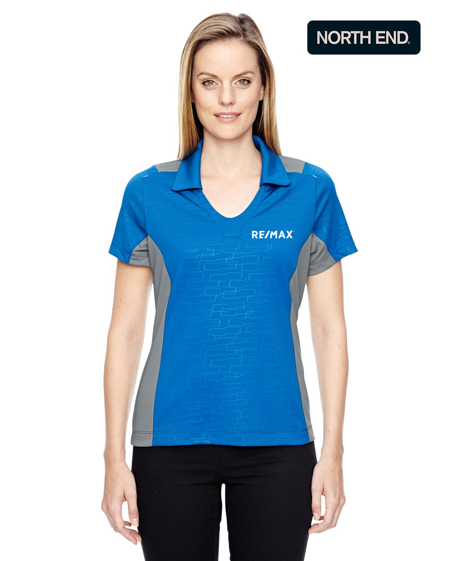 North End Ladies' Reflex UTK cool?logik™ Performance Embossed Print Polo