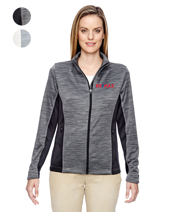 Ladies' Shuffle Performance Mélange Interlock Jacket