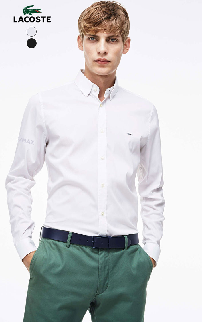 Lacoste Men's Poplin Stretch Woven Shirt