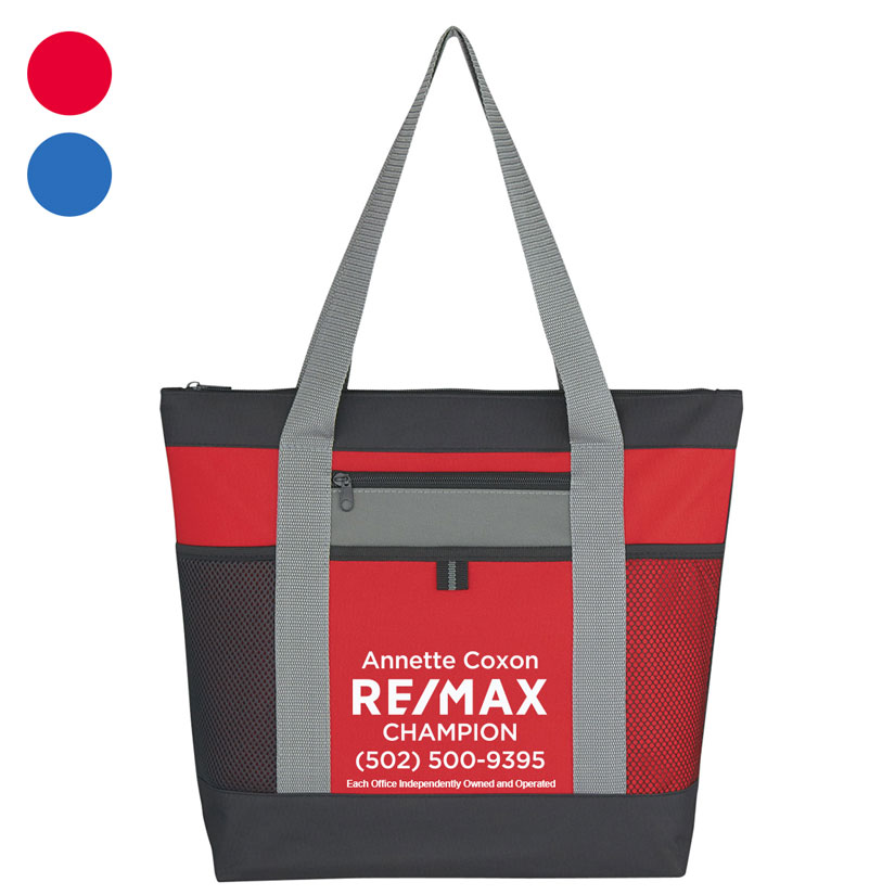 Tri-Color Tote Bag - Personalized