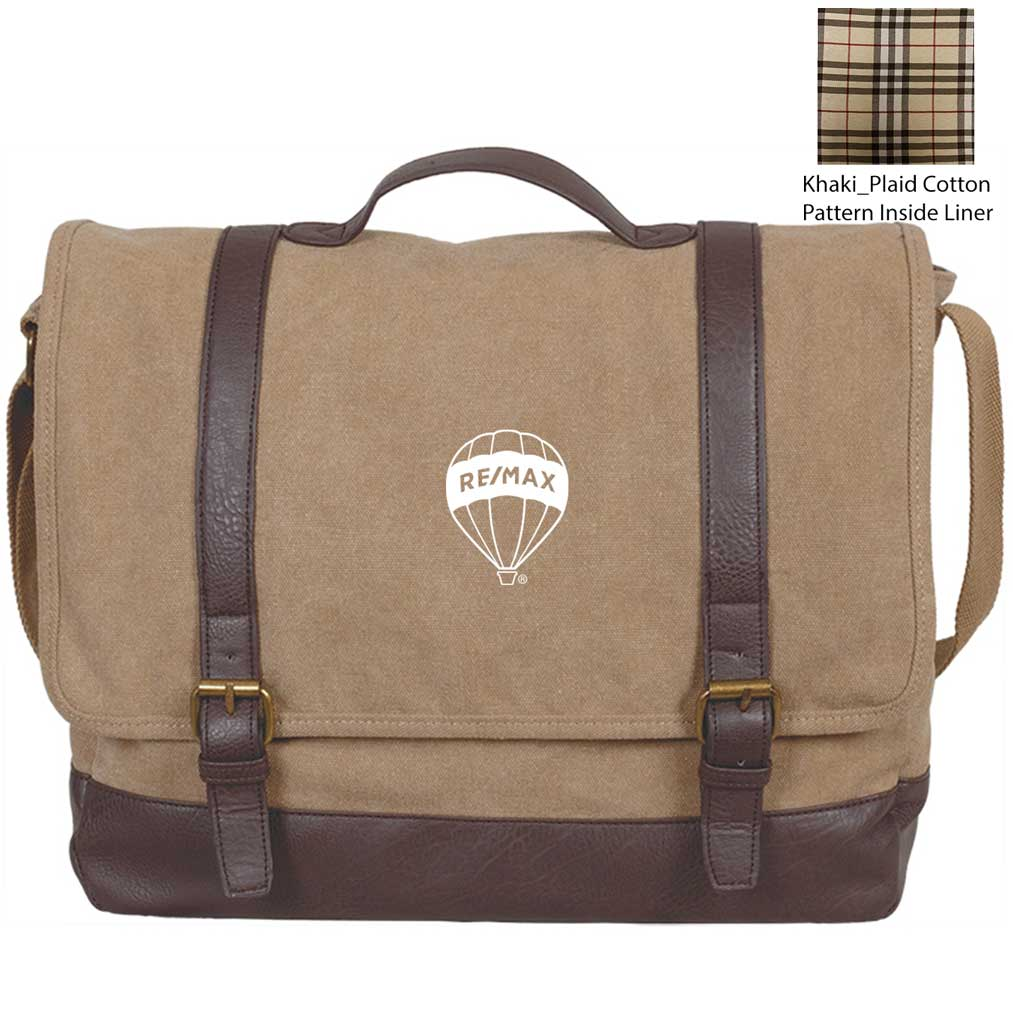 Kensington Messenger Bag - Khaki