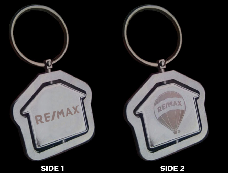 RE/MAX Rotating House Keychain (1.75