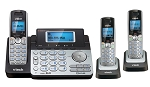 6.0 2-Line Expandable Cordless Phone, 3 Handsets