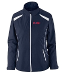 LADIES' LIGHTWEIGHT RECYCLED POLYESTER JACKET WITH EMBOSSED PRINT