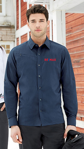 Men's Performance Shirts With Roll-Up Sleeves