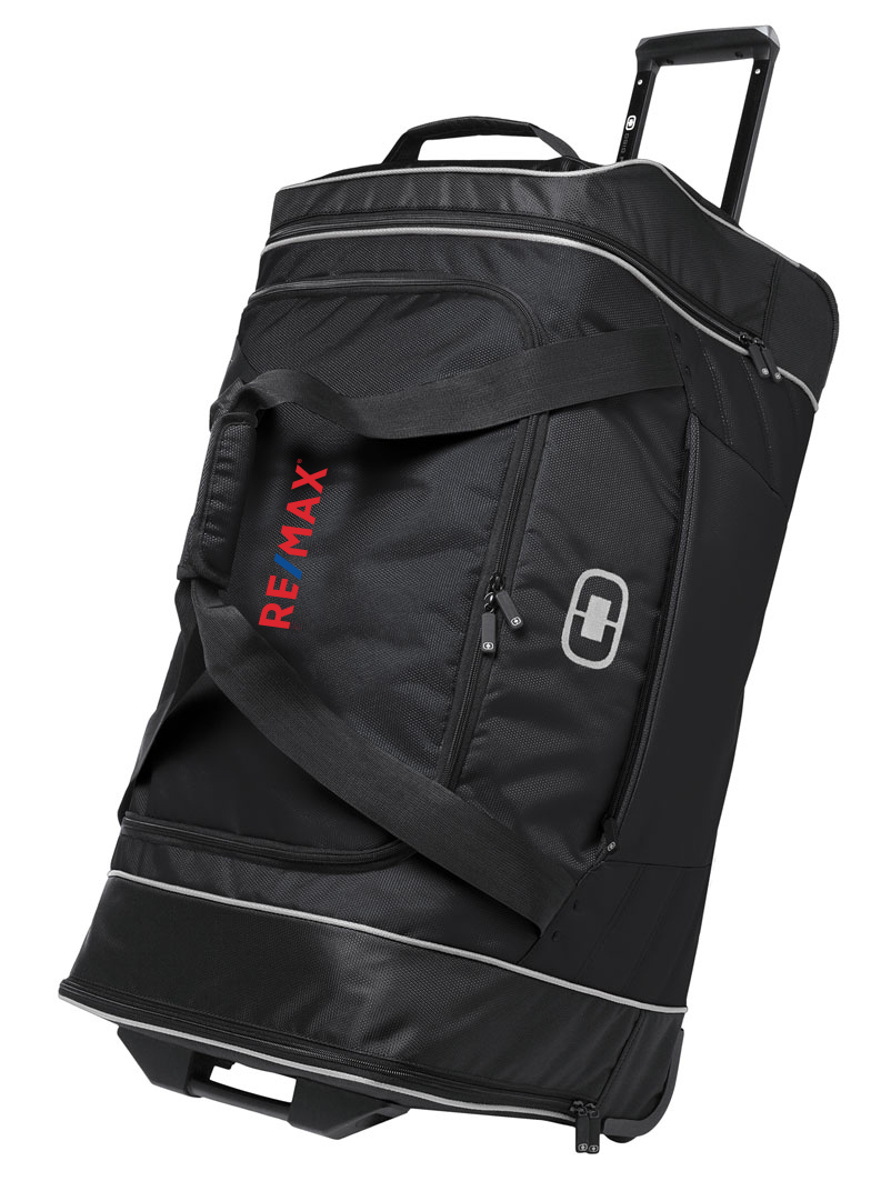"Ogio Hamblin 30/"" Wheeled Duffel Bag Black"