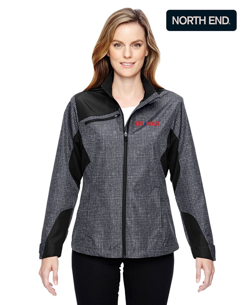 North End Sport® Red Ladies' Interactive Sprint Printed Lightweight Jacket