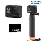 GOPRO HERO7 Black with Micro SD Card and The Handler Floating Hand Grip (COPY)