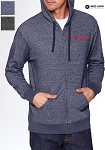 Next Level Adult Unisex Denim Fleece Full-Zip Hoody