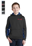 Sport-Tek® Sport-Wick® Youth CamoHex Fleece Colorblock Hooded Pullover (COPY)