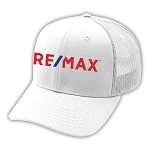 Deluxe 6 Panel Constructed Cotton Twill Mesh Back Pro Style Cap - White - RE/MAX