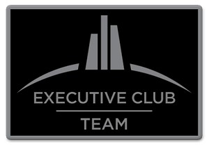 Executive Club Team Pin - Black