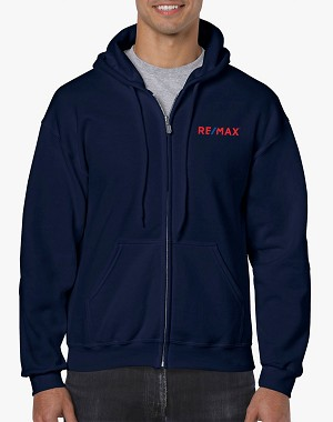 Full Zip Hooded Sweatshirt - Navy