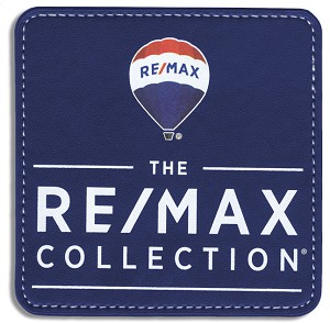 "4"" x 4"" Square Leather Coaster - The RE/MAX Collection"