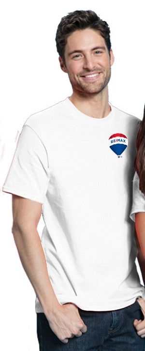 RE/MAX Balloon Men's T-Shirt (L/C) - White