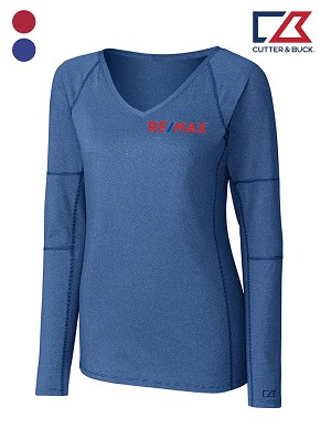 Cutter & Buck Ladies' L/S Victory V-neck