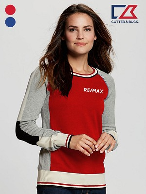 Cutter & Buck Ladies' Stride Colorblock Sweater