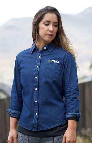 New Premium Collection Ladies' Premium Denim Workshirt