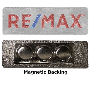 "2.25"" RE/MAX Glitter Lapel Pin"