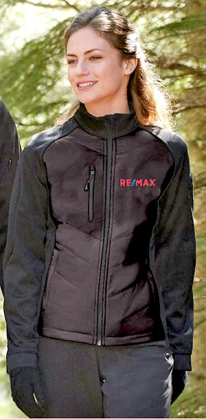 Ladies' Insulated Hybrid Bonded Fleece Jacket