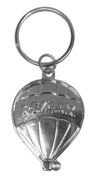 "RE/MAX Silver Balloon Keychain (1.75"")"