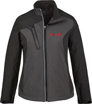 Terrain Ladies' Colour-Block Soft Shell Jacket - Black