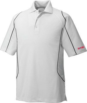 Men's Snag Protection Colour-Block Polo With Piping - White
