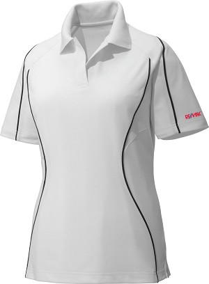 Ladies' Snag Protection Colour-Block Polo With Piping - White