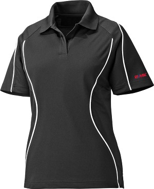 Ladies' Snag Protection Colour-Block Polo With Piping - Black