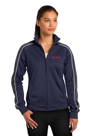 Ladies Piped Tricot Track Jacket