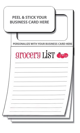 """Grocery List"" Magnetic Note Pad"